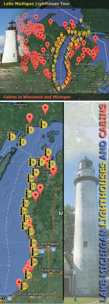 Michigan Lighthouse Map